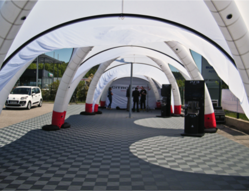 Citroen showcase under the X-GLOO tent