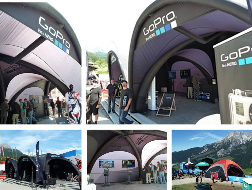 X-GLOO-Tent at the mountain bike world championships